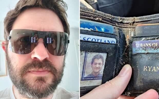 Британец потерял кошелек 20 лет назад и был удивлен, когда снова увидел его