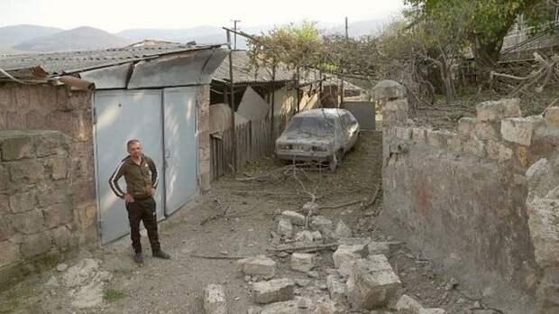 Азербайджанская армия обстреляла армянское село