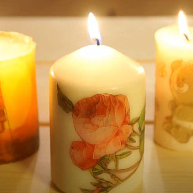 как сделать свечу к 8 марта своими руками