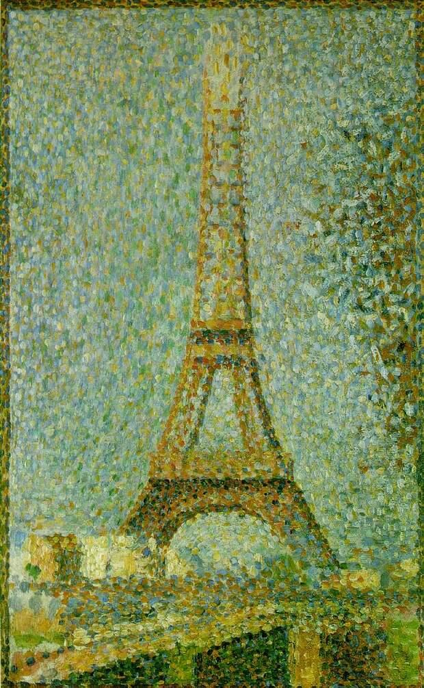 Seurat The Eiffel Tower, 1889,. Сера, Жорж