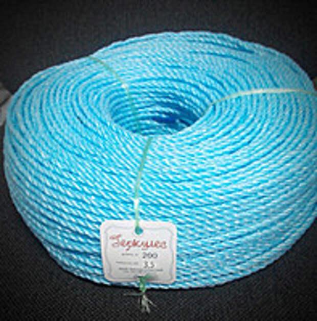 """Веревка полипропиленовая """"Геркулес"""" диаметр 3,5 мм.,длина 200 метров."""