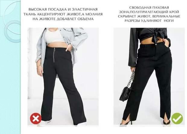 Какие брюки стоит носить, если у вас большой живот