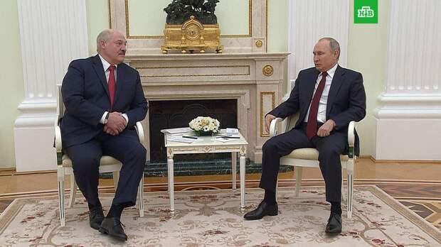 Переговоры Путина и Лукашенко продлились почти 4 часа