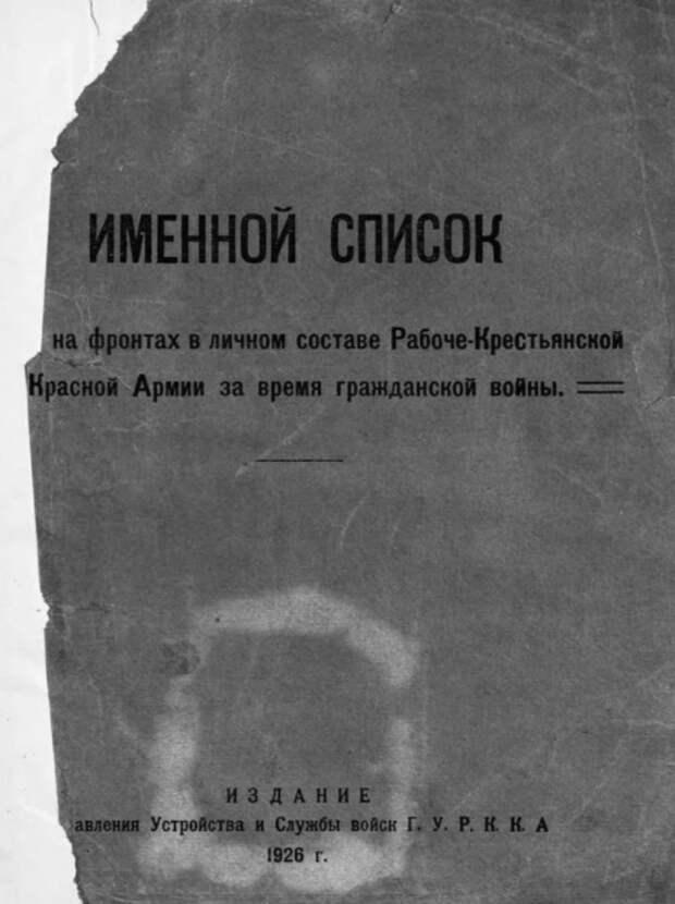 Как найти участника Гражданской войны (1917-1922г.)