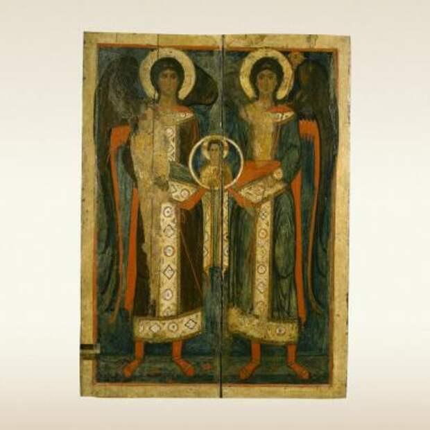 Икона: Собор архангелов Михила и Гавриила. Вторая половина XIII века