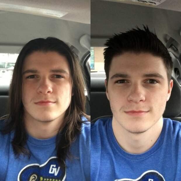 Мужчины, которые набрались смелости и сдались на милость парикмахера