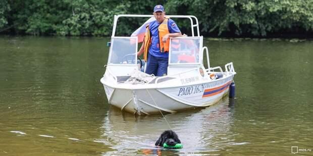 Спасатели из Левобережного не дали утонуть заполненному водой катеру
