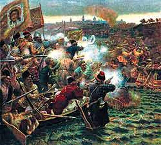 Картина В. Сурикова «Завоевание Сибири Ермаком Тимофеевичем. 1582 г.»