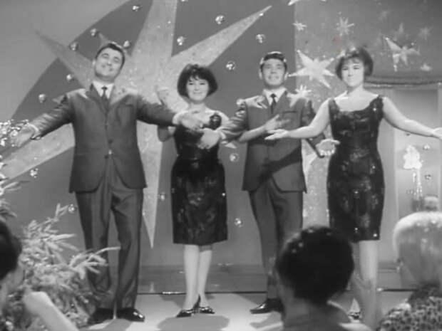 """Квартет """"Аккорд"""" исполнил песню """"В ночь под Новый год"""" СССР, голубой огонек, ностальгия, старый новый год, эстрада"""