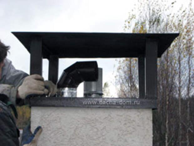 дымоход для металлической банной печи
