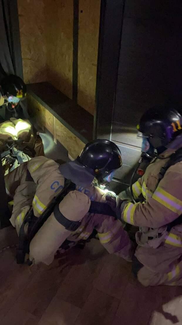 Спасатели тренировались в лабиринте