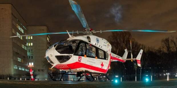 За два года санитарной авиацией столицы ночью спасено 184 человека