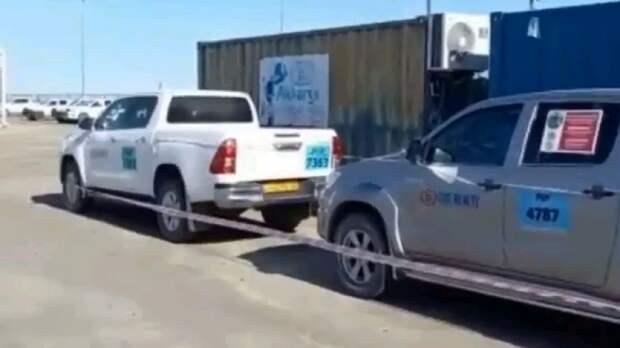 На Тенгизе приостановили работу автомобилей, в которых птицы свили гнезда