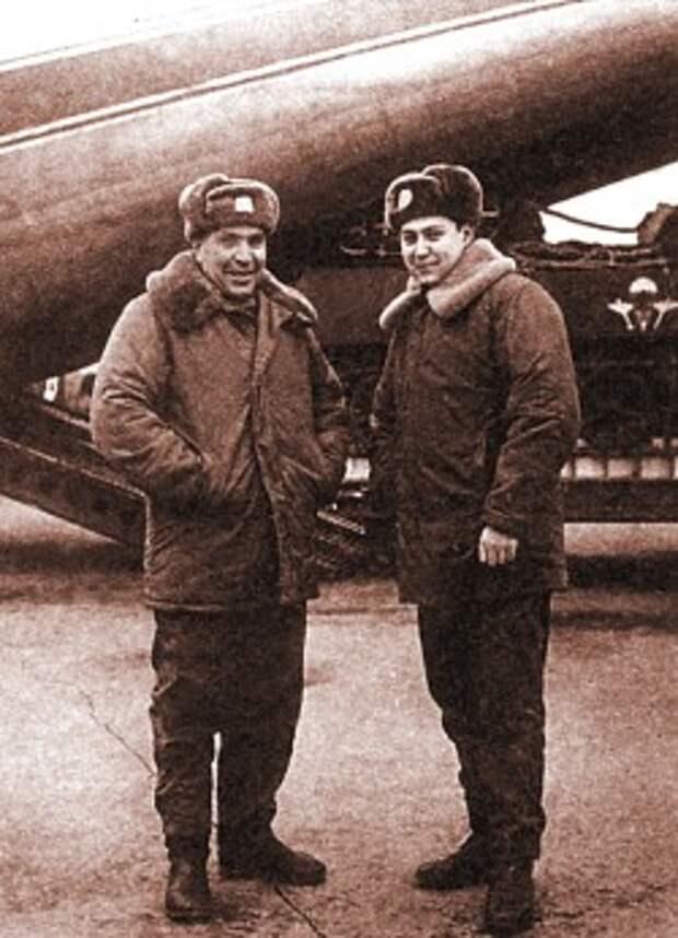 "Экипаж ""Кентавра-1"" Л.Зуев и А.Маргелов. 5 января 1973 г."