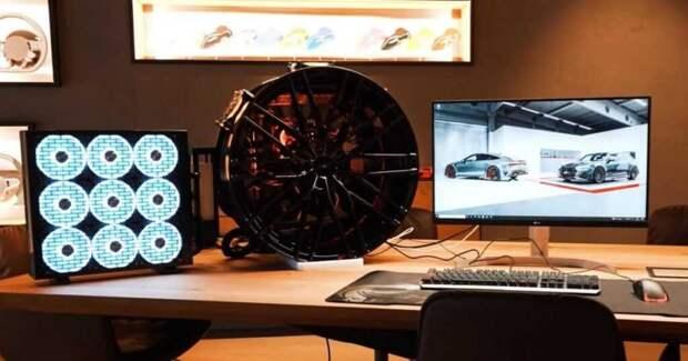 Немецкий энтузиаст преобразил автомобильный диск в корпус для игрового ПК (видео)