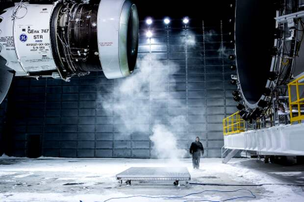 Испытания двигателя GEnx-2B67 для Boeing 747-8