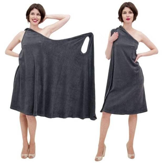 Простое платье для  дома - нашла выкройку