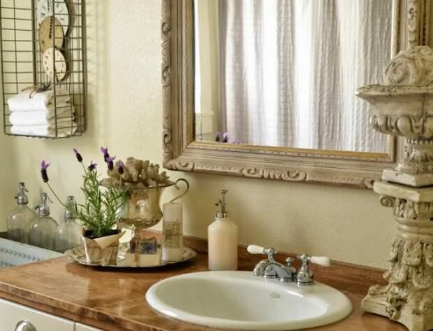 Красиво оформленная ванная комната