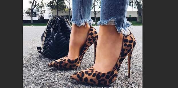 C чем надеть леопардовые туфли