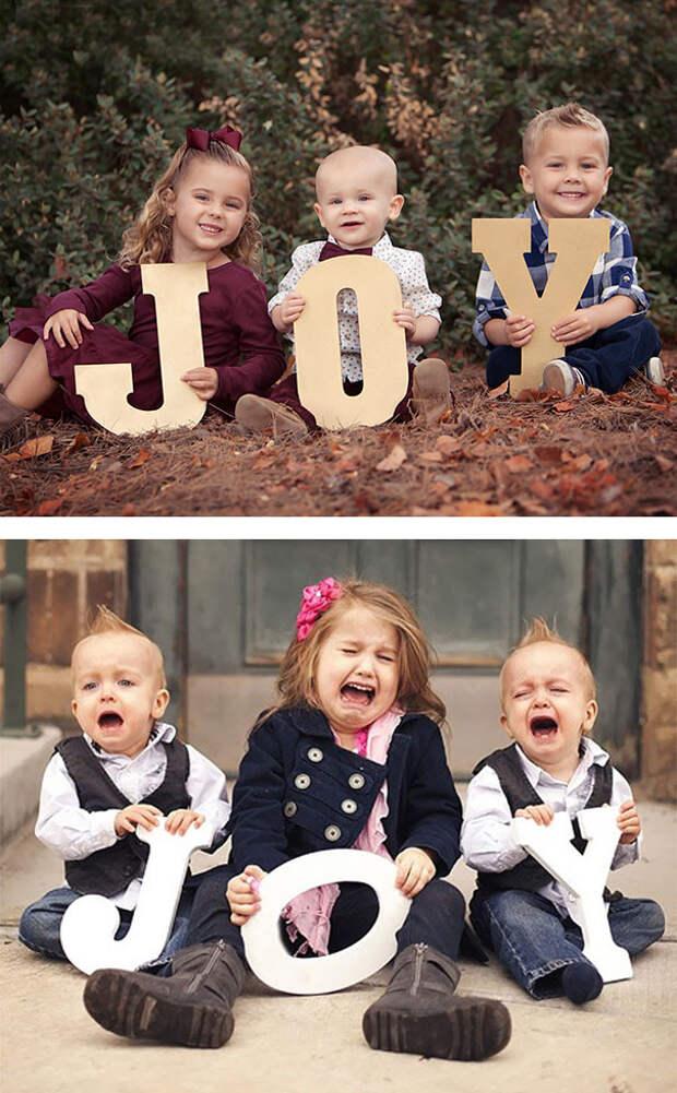 Радость: образец и... дети, фото, юмор