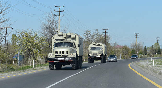 Миротоворцы РФ сопроводили военную автоколонну Азербайджана