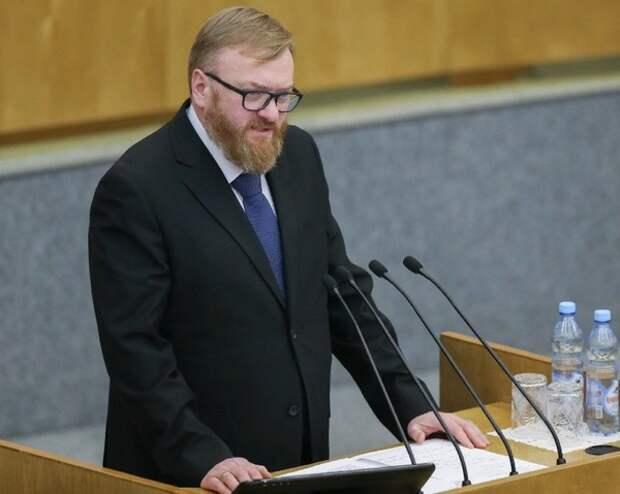 Милонов предложил увеличить налоговую нагрузки для иностранных компаний для поддержки экономики