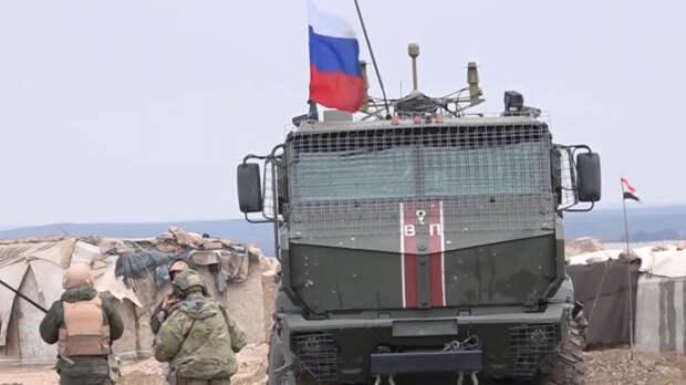 Российский патруль заблокировал колонну США на северо-востоке САР