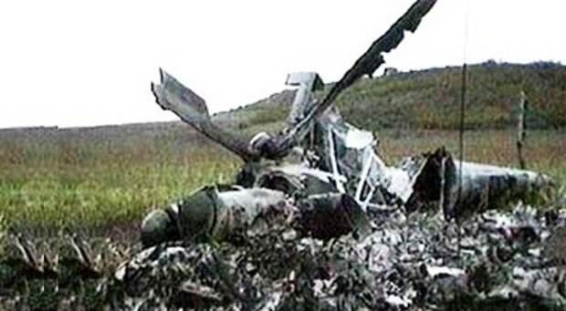 Обломки Ми-8 близ села Каракенд