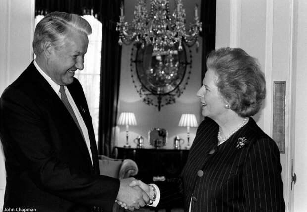Тэтчер и Ельцин