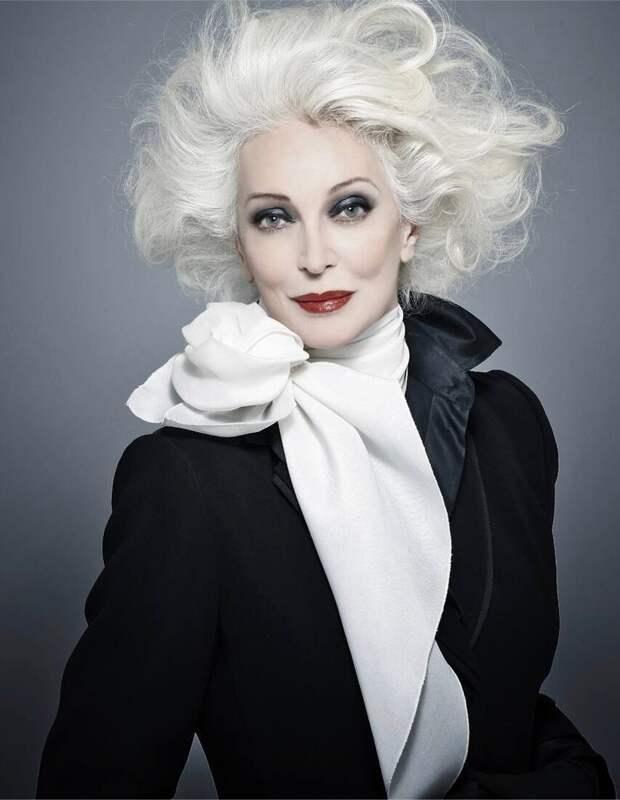 90-летняя модель вошедшая в «Книгу Рекордов Гиннеса» — Кармен Делл'Орефайс. Из бедной семьи и интерната к обложке Vogue,Elle др