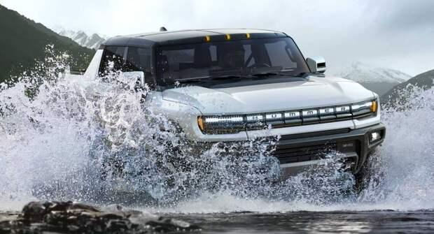 На видео показаны впечатляющие внедорожные возможности GMC Hummer EV