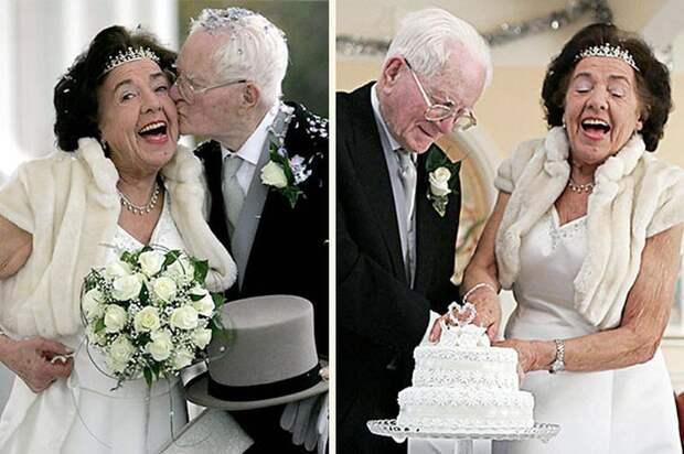 15 свадебных фотографий пожилых пар, которые доказывают, что жениться никогда не поздно.