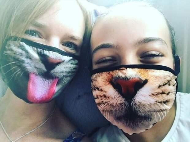 30 странных исмешных защитных масок для людей-кошек