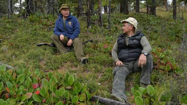 Шойгу восхитился «камином» в палатке Путина на отдыхе в тайге