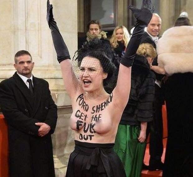 Активистка грудью выбила «барыгу» Порошенко из аристократической «тусовки». (ФОТО)