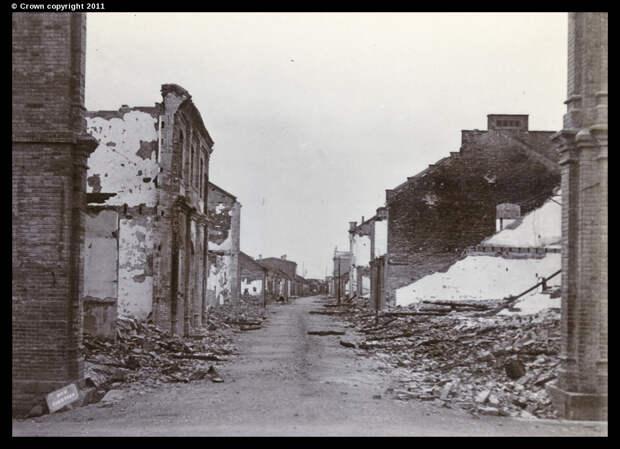 Рю де Тяньцзинь в руинах, квартал Французской концессии