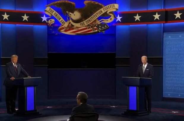 Дебаты со словами «клоун» и «заткнись» между Трампом и Байденом посмотрели около 100 млн американцев