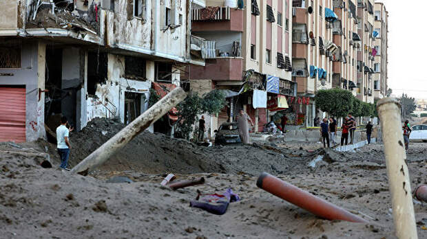 Последствия израильского авиаудара по Газе