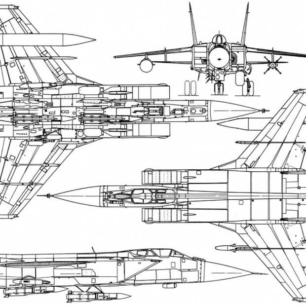 МиГ-31 первых серий. Схема 2