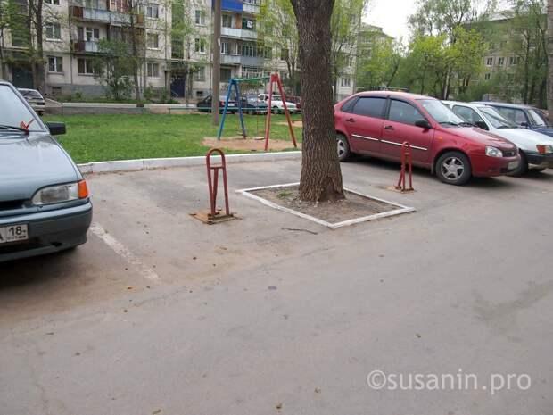 Жильцы почти 200 домов Ижевска определились с дополнительными местами для парковок во дворах