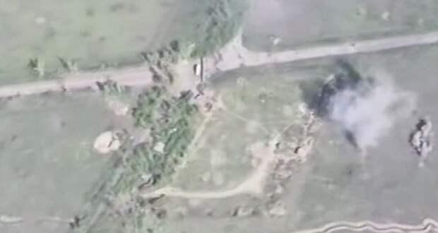Уничтожение блокпоста 128-й бригады ВСУ. Видео