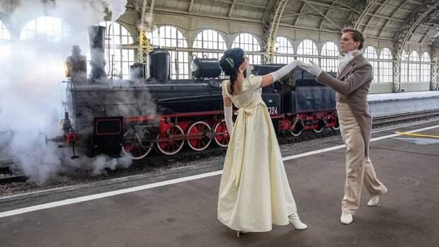 Витебский вокзал впервые стал площадкой для проведения парада паровозов