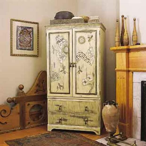 Декор шкафа своими руками: способы и технологии