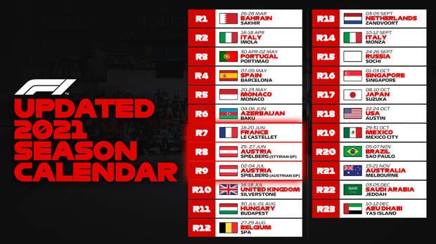 «Формула-1» подтвердила отмену Гран-при Турции, Австрия примет две гонки