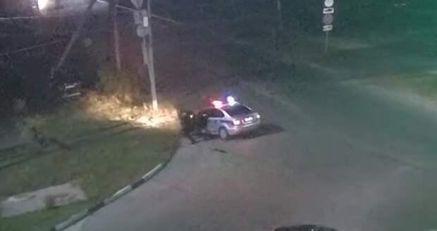 Момент полицейской погони в Рязани попал на видео