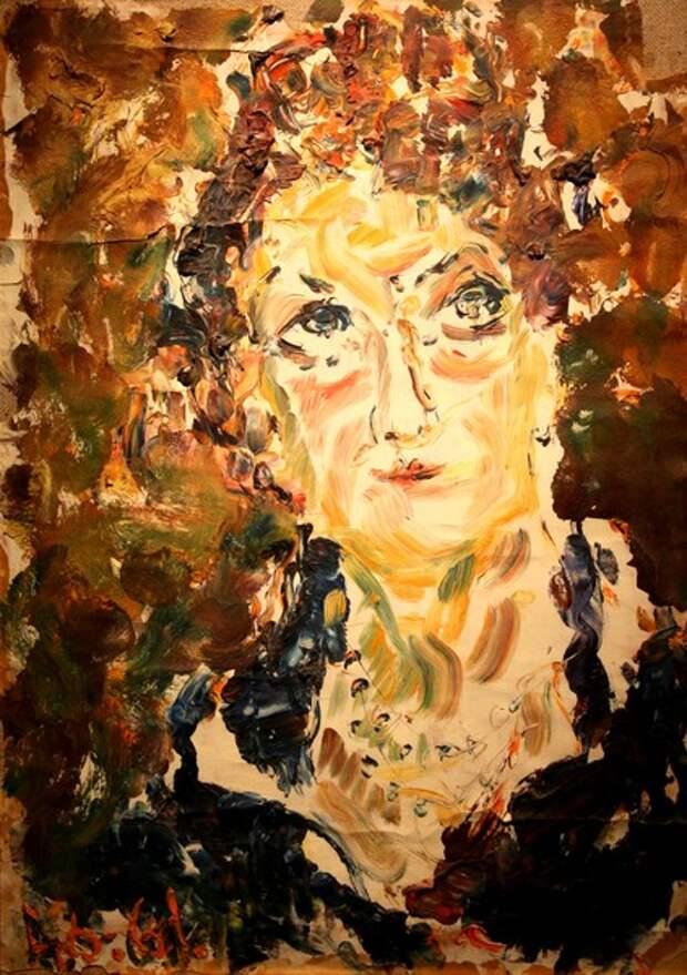 Фото Анатолий Зверев.Женский портрет.1961 г.