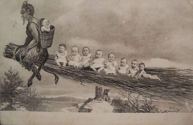 krampus11 Крампус   садистcкий приятель Санта Клауса