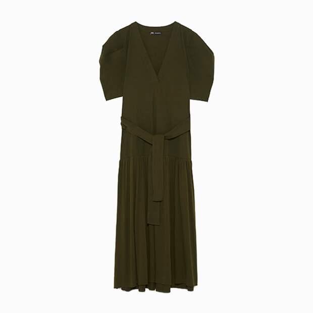 Платье с поясом Zara