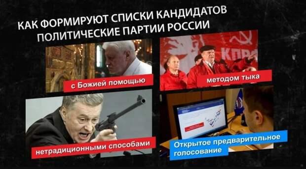 Как формируют списки кандидатов политические партии России