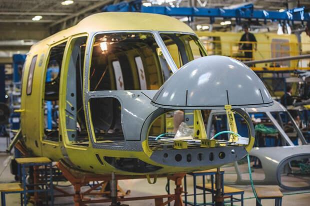 В казанском вертолете «Ансат» под 60% импортных комплектующих, включая аккумуляторы, систему кондиционирования, тяги управления